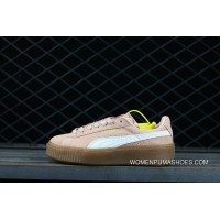 Puma Suede Platform Core 363559-10 White Pink Top Deals