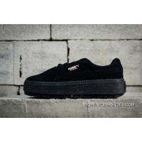 Best Authentic Puma SUEDE PLATFORM Flatform Shoes Height-Increase Shoes 365830-01