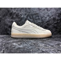 Puma Suede Classic Mono 3 M Beige White Jelly Bottom Sneakers SKU 362101-09 New Year Deals