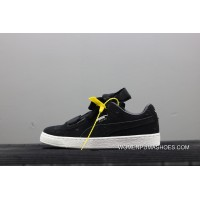 Puma Suede Heart Valentine Jr Black White Limited Bow Ribbon Sneakers 365135-02 New Year Deals