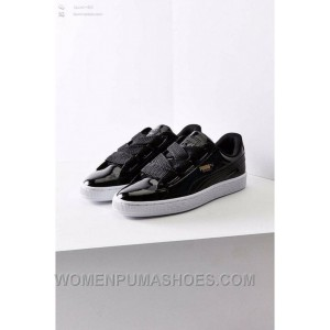 Puma Suede Heart Patent Donna Scarpe Black White Women Super Deals