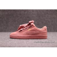 PUMA Suede Heart Bind Silk Satin II The Bow Against Fur 364084-03 Pink Red Bean Paste Top Deals