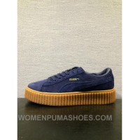 Puma X Rihanna Creepes Suede Navy Women And Men Authentic GXXkF