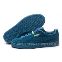 Puma Rihanna Suede Creepers 1608 Women Men All Blue Authentic S5rMj