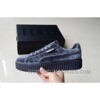 Puma By Rihanna Suede Creepers Grey New Release Online Jcj8b