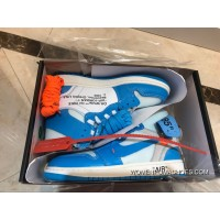 Air Jordan 1 FULL GRAIN LEATHER Blue Collaboration Women Shoes Size All Code SEC Best