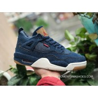 Aj4 Levis Collaboration Participants In Real Picture Air Jordan 4 Levi S Tannin AO2571-401 Size Women Free Shipping