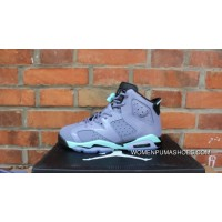 AJ Jordan 6 Generation Grey Green Lavender Women Air 6 Retro GS 6 Grey Green 543390-508 For Sale