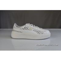 Discount 200 Welcome To Archives Mouths Consulting White Gold Tongue Hollow PUMA Women Shoes 2018 Summer New Rihanna Flatform Shoes Casual Sneaker 365190-01