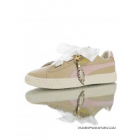 All The High Quality Full Grain Leather Material Soft Feeling Lining Ribbon Pendant Music Festival Theme Puma Basket Heart Coach Wns Fm Classic Star Series Bow Low All-Match Casual Sport Sneakers Light Taro Pink 366307-01 New Release