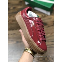 Kim Hyun A Puma Platform Trace Block Wns Rihanna Collaboration Flatform Shoes Pure Raw Rubber Outsole High Mercerized Soft Touch Suede Made In Taiwan Hot Stamping Process Details As 366268-04 Size Outlet