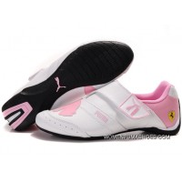 Womens Puma Baylee Future Cat Ii In White/Pink Free Shipping