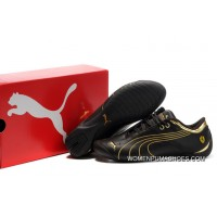 Ferrari Future Cat M1 Shoes Black/Gold Latest