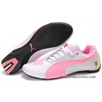 Womens Puma Future Cat Big Ferrari Pink/White New Year Deals