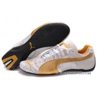 Womens Puma Future Cat Carve Golden/White Free Shipping