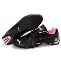 Womens Puma Future Cat Gt Ferrari Black/Pink Free Shipping