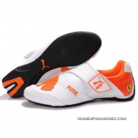 Womens Puma Baylee Future Cat In White-Orange Copuon
