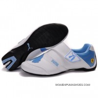 Womens Puma Baylee Future Cat In White-University Blue Free Shipping