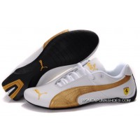 Womens Puma Future Cat Gt Ferrari Golden/White New Style
