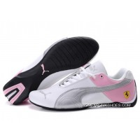 Womens Puma Future Cat Gt Ferrari White/Pink/Gray Discount