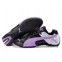 Womens Puma Future Cat In Black/Purple Best