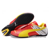 Womens Puma Future Cat In Red/Yellow/White New Year Deals
