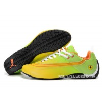 Womens Puma Future Cat In Yellow/Green/Black Outlet
