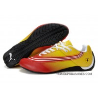 Womens Puma Future Cat In Yellow/Red Latest