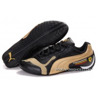 Womens Puma Future Cat Low In Black/Gold Top Deals
