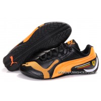 Womens Puma Future Cat Low In Black/Orange Free Shipping