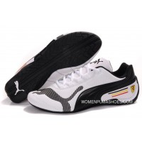 Womens Puma Future Cat Low In White/Black Copuon