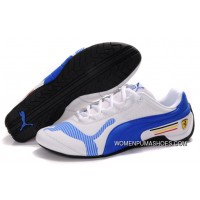 Womens Puma Future Cat Low In White/Blue Best