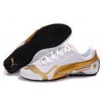 Womens Puma Future Cat Low In White/Gold Shoes Top Deals