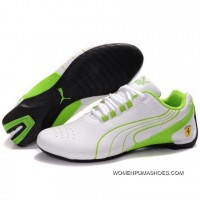 Womens Puma Future Cat M1 In White-Green Shoes Sale New Release