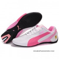 Womens Puma Sf Future Cat Iv In White-Pink-Light Pink Copuon