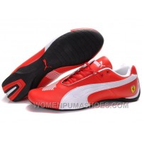 Womens Puma Future Cat Low Red White Shoes Discount QKW64