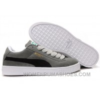 Women's Puma Suede Gray-Black Christmas Deals ZkPWG