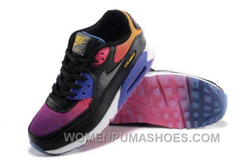 nike air max 90 womens black and purple