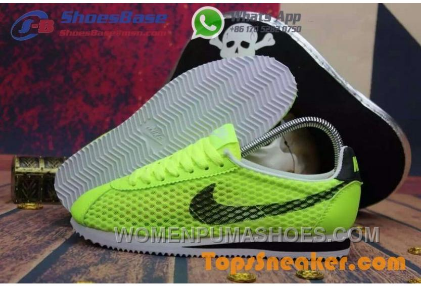 new arrival 0624d a0841 Hot Sell Popular Womens Nike Cortez Mesh Yellow Black Jogging Shoes  Fashionable New Release EDQ25