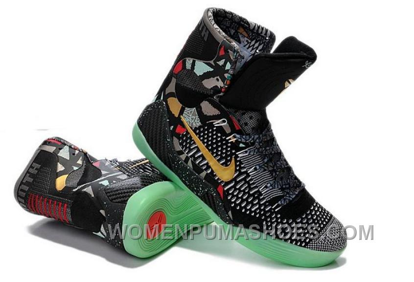 3d723b15c210 Buy Cheap Nike Kobe 9 2014 High Tops Black Gold Green Mens Shoes Lastest  3Ej2f