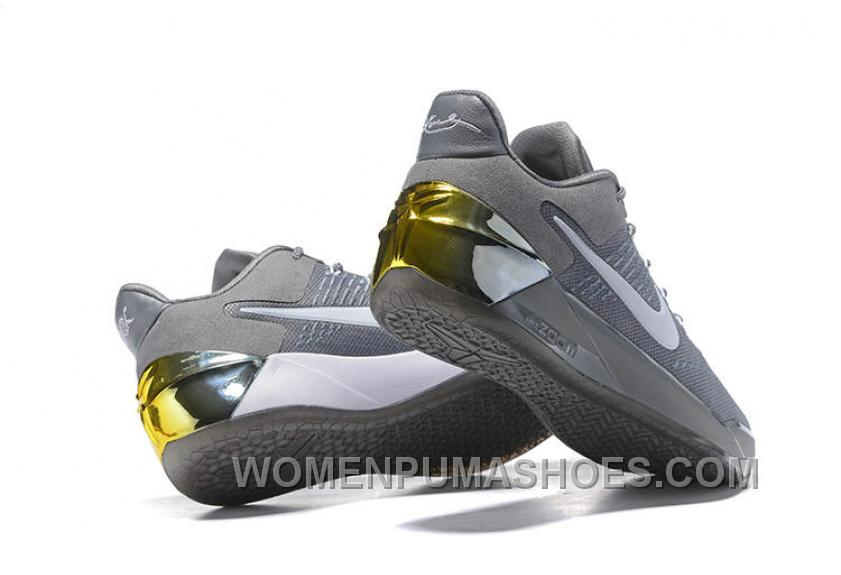 Cheap Nike Kobe A.D. 12 Cool Grey White 852425-010 Lastest ZWhA5e