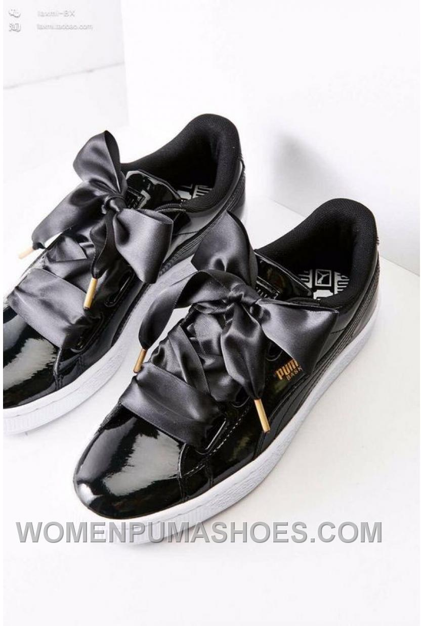 puma suede heart patent donna scarpe black white women. Black Bedroom Furniture Sets. Home Design Ideas