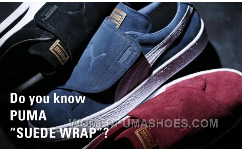PUMA SUEDE WRAP 363653-03 Velcro Red Black Blue For Sale 3YyWY