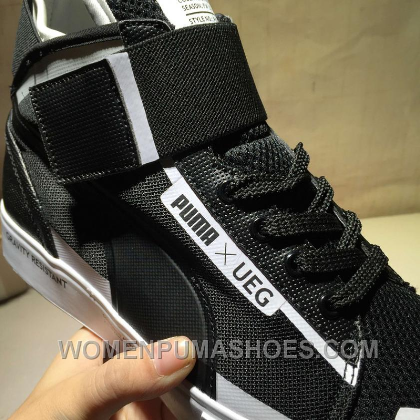 Puma Court Play X UEG Black High Top Women Men Online T4mZw