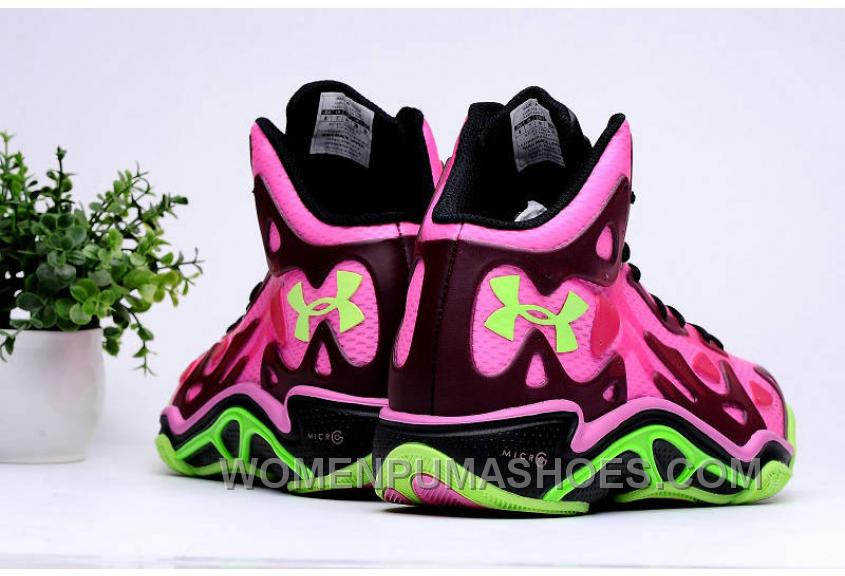 Buy Under Armour Micro G Anatomix Spawn 2 Pink Black Hyper Green Authentic FxPSfza