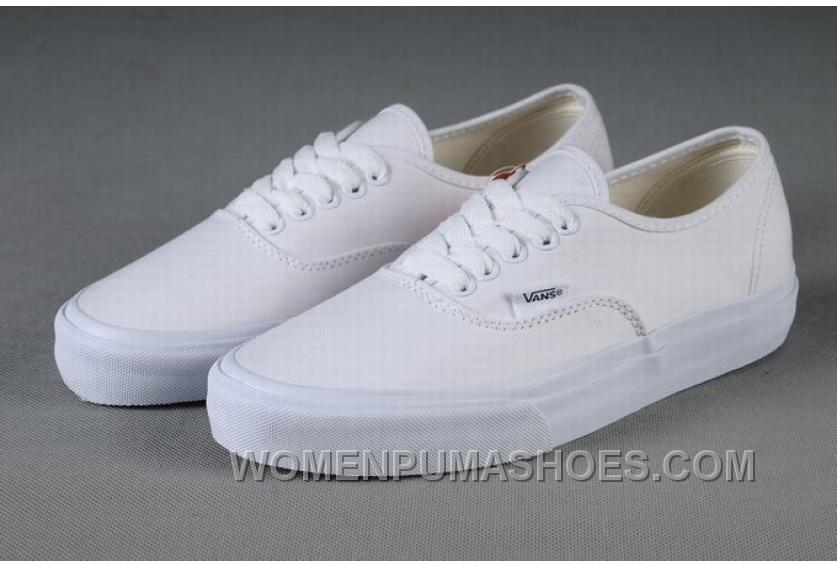vans authentic classic all white womens shoes