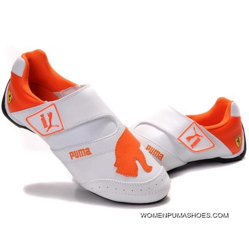 Womens Puma Baylee Future Cat In White-Orange Copuon 18b93d324