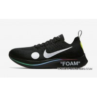Off-White X Nike Zoom Fly Mercurial Flyknit OW AO2115-800 Black Blue 2018 Russia FIFA World Cup New Year Deals