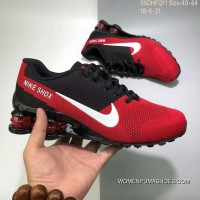 Nike AIR SHOX FLYKNIT Zoom Running Shoes 2018 Russia FIFA World Cup RED BLACK Copuon