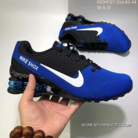 Nike AIR SHOX FLYKNIT Zoom Running Shoes 2018 Russia FIFA World Cup BLUE Free Shipping